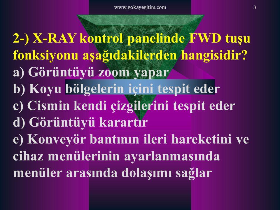 www.gokayegitim.com104 2-) Şarjörlerin silah üzerinde yerleş- tirildiği bölgeye Şarjör …… denir.