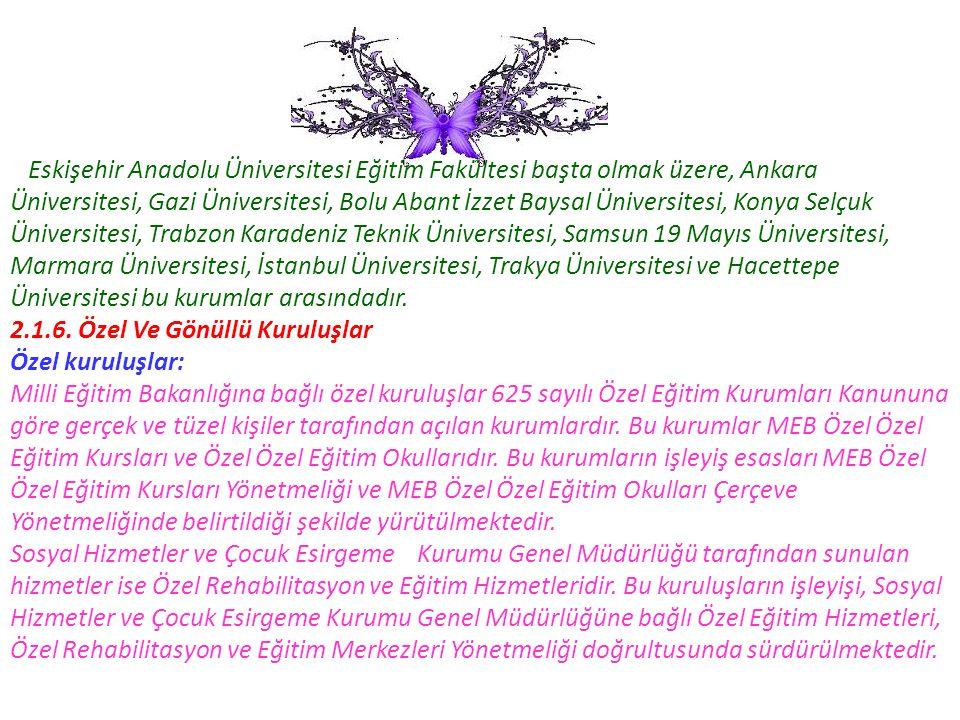 Eskişehir Anadolu Üniversitesi Eğitim Fakültesi başta olmak üzere, Ankara Üniversitesi, Gazi Üniversitesi, Bolu Abant İzzet Baysal Üniversitesi, Konya