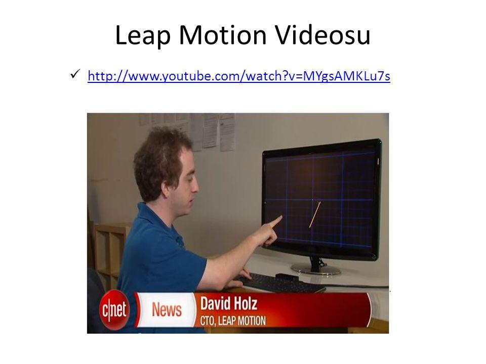 Leap Motion Videosu http://www.youtube.com/watch?v=MYgsAMKLu7s