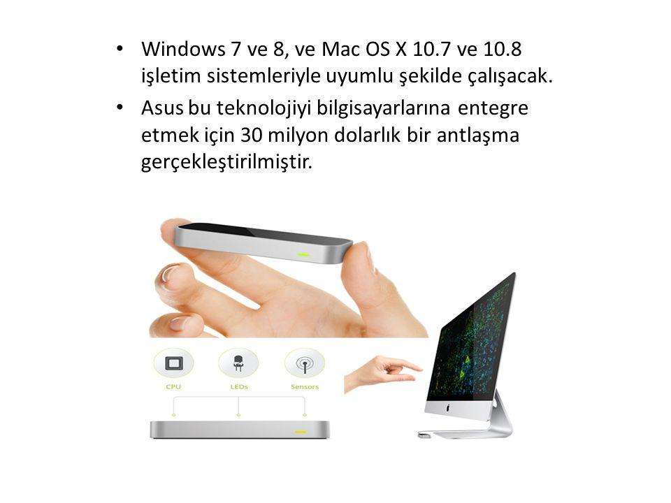 Windows 7 ve 8, ve Mac OS X 10.7 ve 10.8 işletim sistemleriyle uyumlu şekilde çalışacak. Asus bu teknolojiyi bilgisayarlarına entegre etmek için 30 mi
