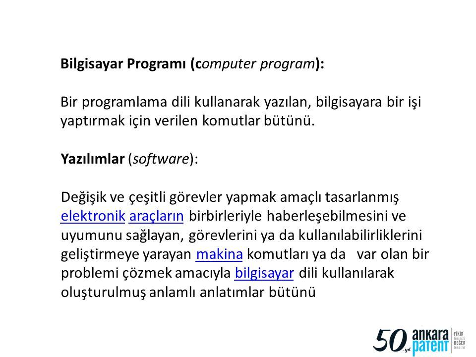 17 Bilgisayar Programı (computer program): Bir programlama dili kullanarak yazılan, bilgisayara bir işi yaptırmak için verilen komutlar bütünü. Yazılı