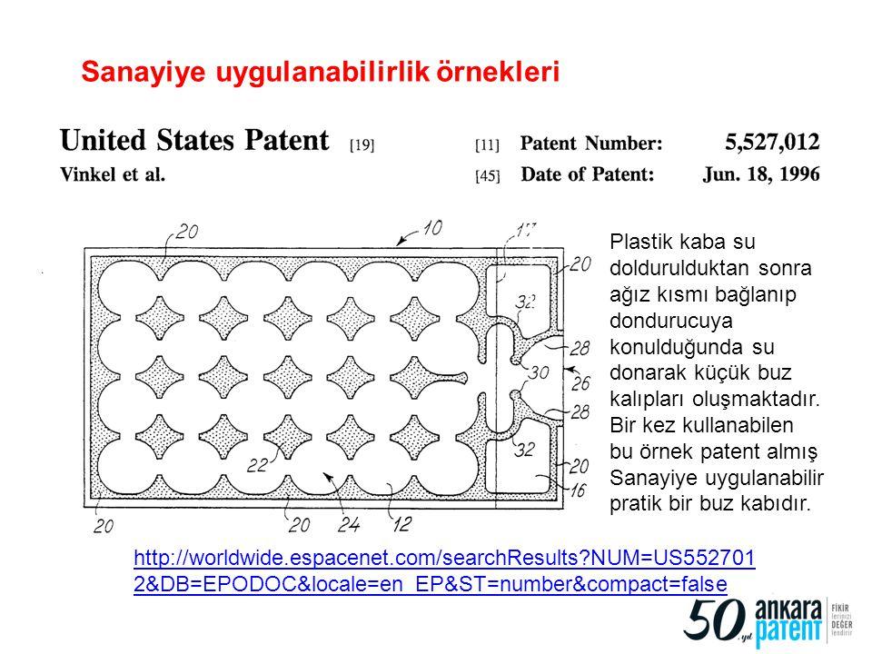 http://worldwide.espacenet.com/searchResults?NUM=US552701 2&DB=EPODOC&locale=en_EP&ST=number&compact=false 92 Sanayiye uygulanabilirlik örnekleri Plas
