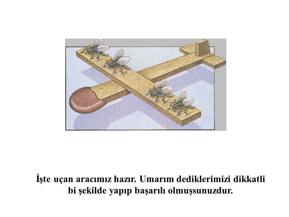 İşte uçan aracımız hazır. Umarım dediklerimizi dikkatli bi şekilde yapıp başarılı olmuşsunuzdur.