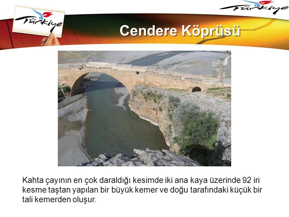 LOGO www.themegallery.com Cendere Köprüsü Kahta çayının en çok daraldığı kesimde iki ana kaya üzerinde 92 iri kesme taştan yapılan bir büyük kemer ve