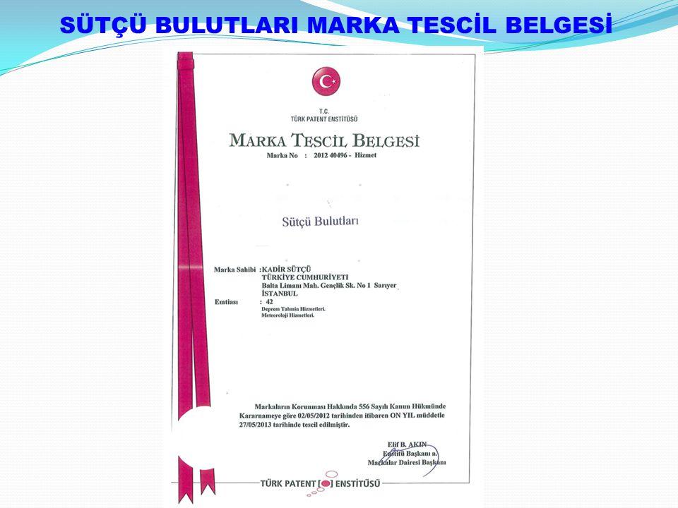 SÜTÇÜ BULUTLARI MARKA TESCİL BELGESİ