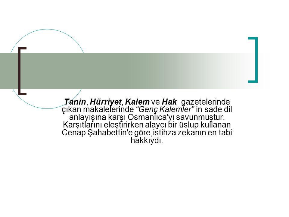 Eserleri (devam) MAKALE, Evrak-ı Eyyam Nesr-i Harb Nesr-i Sulh