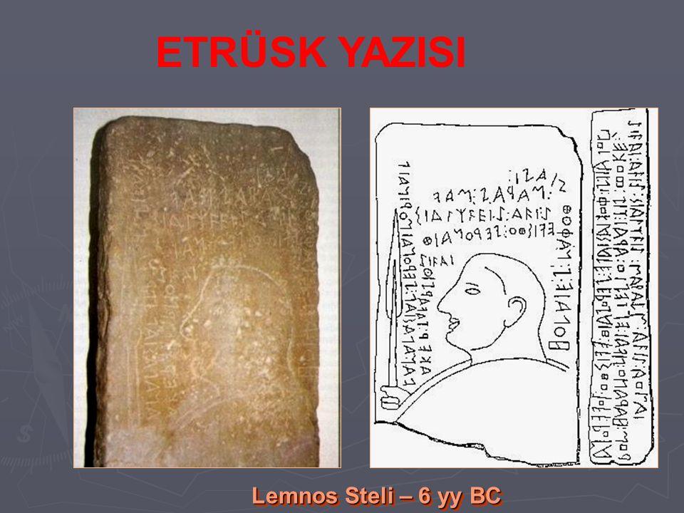 Lemnos Steli – 6 yy BC ETRÜSK YAZISI