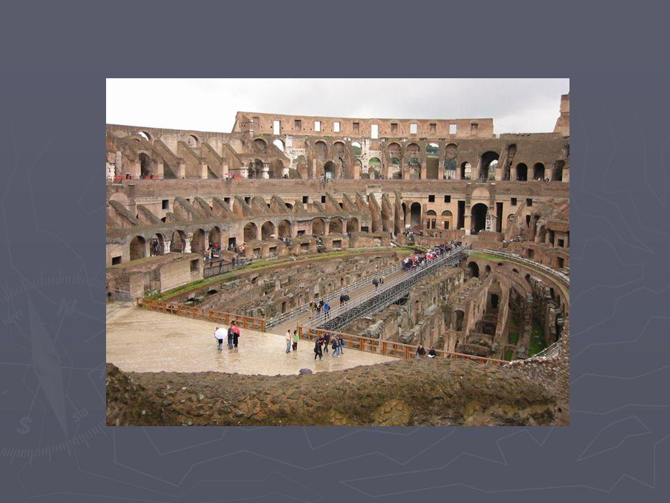 Roma'da hayat! ► Dışta barış ► İçte sefalet ► Avuntu: stadyum! stadyum!