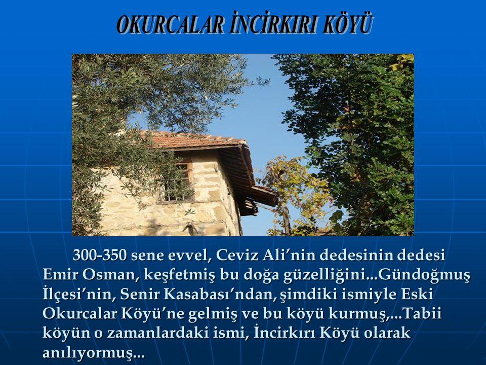 300-350 sene evvel, Ceviz Ali'nin dedesinin dedesi Emir Osman, keşfetmiş bu doğa güzelliğini...Gündoğmuş İlçesi'nin, Senir Kasabası'ndan, şimdiki ismi