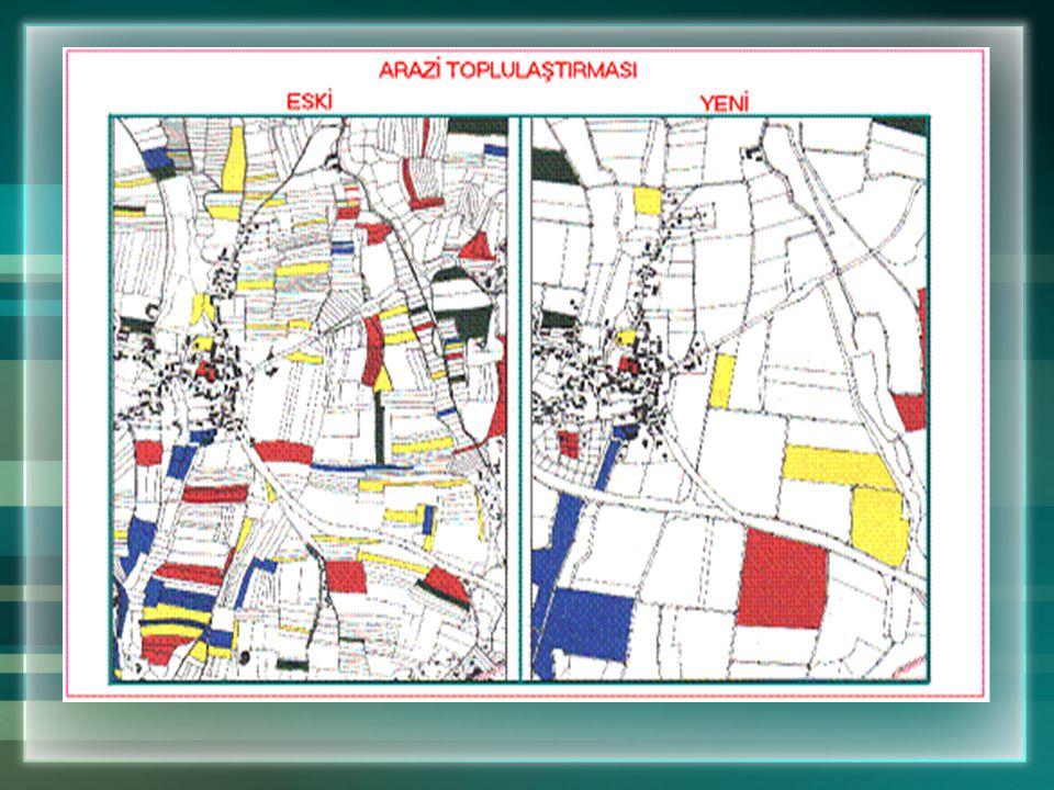 Karaman Merkez Kisecik Sulama ve Toplulaştırma Projesi (700 ha / 2750 ha) Ortalama parsel büyüklüğü 1,61 ha3,61 ha Sulamaya doğrudan erişim % 61 % 100