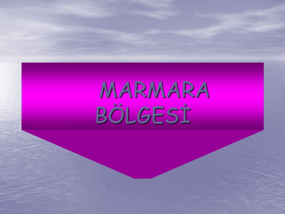 MARMARA BÖLGESİ MARMARA BÖLGESİ