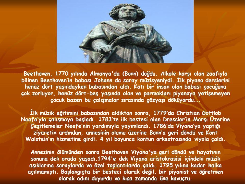 1798 yılında Beethoven işitme problemleri yaşamaya başladı.