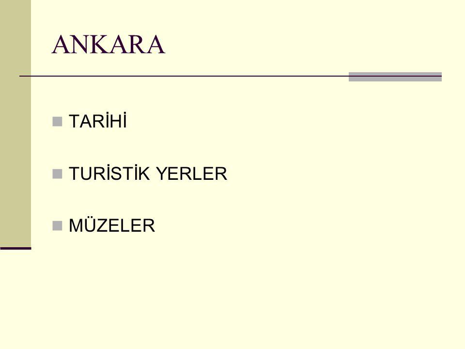 TARİHİ İlin tarihteki ismi Ankyra dır Galatlar Ankara yı ilk defa başkent olarak kullanmışlardır 871-893 tarihleri arasında birkaç kez el değiştirir.