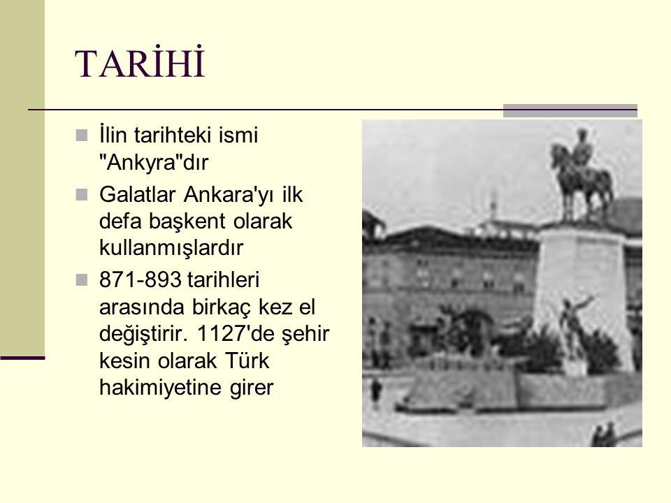 Kurtuluş savaşı sırasında 1920 de Ankara merkez üs olarak seçilir 1923 te Gazi Mustafa Kemal ATATÜRK tarafından coğrafi, stratejik, siyasi ve Kurtuluş Savaşındaki merkez üs özellikleri nedeniyle başkent ilan edilir.