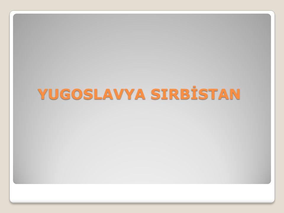YUGOSLAVYA SIRBİSTAN