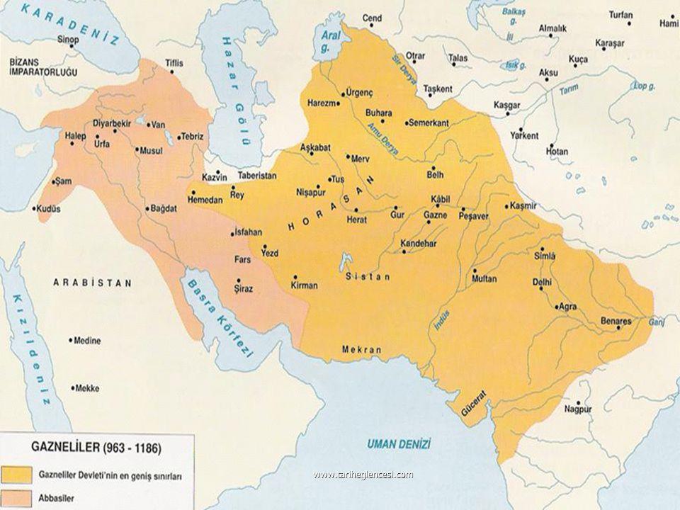 Gazneliler (963-1187) Samanoğulları Devleti'nin Horasan valisi Alp Tigin tarafından kurulmuştur. Samanoğulları Devleti'nin Horasan valisi Alp Tigin ta