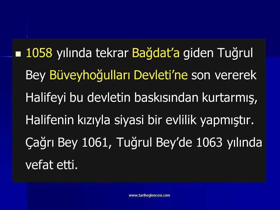 1054 yılında Anadolu'ya sefer düzenleyerek bazı bölgeleri ele geçirmiştir. Bağdat'a iki sefer düzenleyerek Bağdat Abbasi Halifesi'ni Şii Büveyhoğullar
