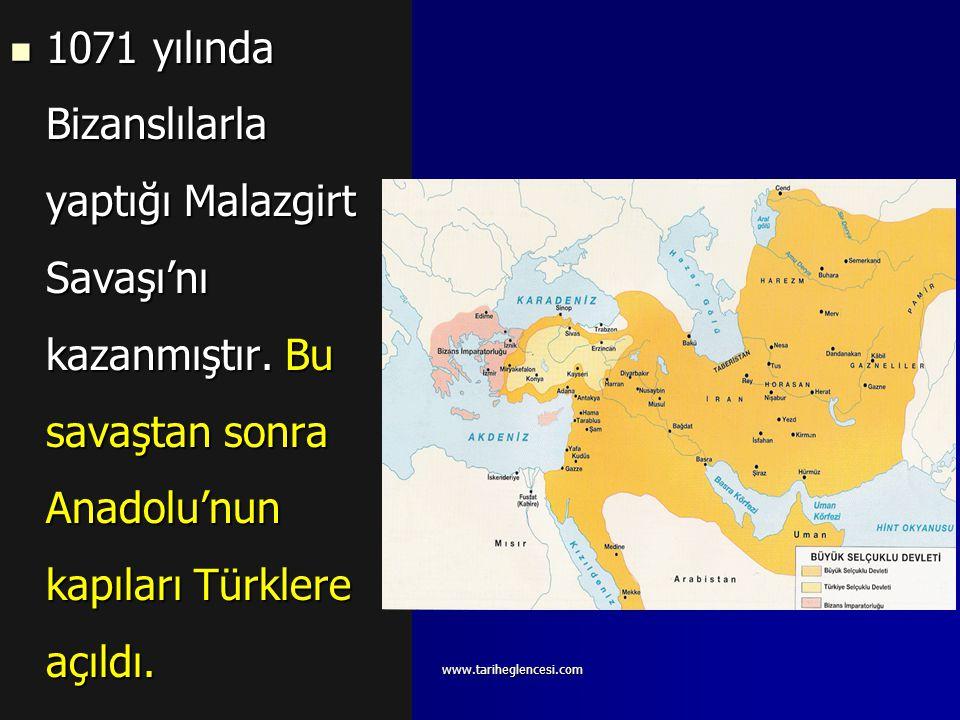 Alparslan (1063-1072) Ağabeyi Süleyman'ın hükümdarlığını kabul etmeyen Alparslan tahta geçti. Kutalmış da ayaklandı ise de bunu hayatıyla ödedi.1064 y