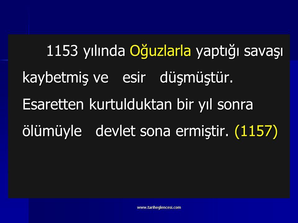 Sultan Sencer (1119-1157) 1092-1119 yılları arasındaki Fetret dönemine son vererek tahta geçmiştir. 1092-1119 yılları arasındaki Fetret dönemine son v