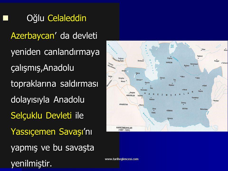 Harezmşahlar (1157-1220) Kurucusu Atsız olarak kabul edilmiştir. Daha önceleri Selçuklulara bağlı olarak yaşamışlardır. Alaeddin Tekiş, Karahıtaylılar