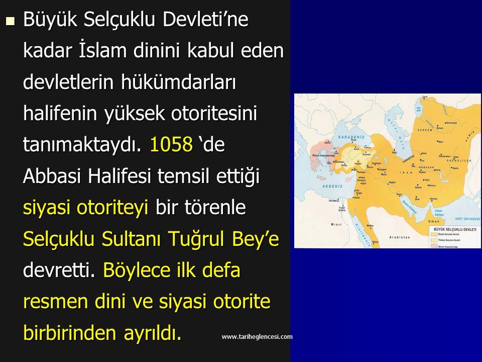 """İlk Türk devletlerindeki """"ülkenin töreye uygun ve adaletli olarak yönetilmesi"""", """"Devlet halk içindir"""" anlayışı Türk-İslam devletlerinde de devam etti."""