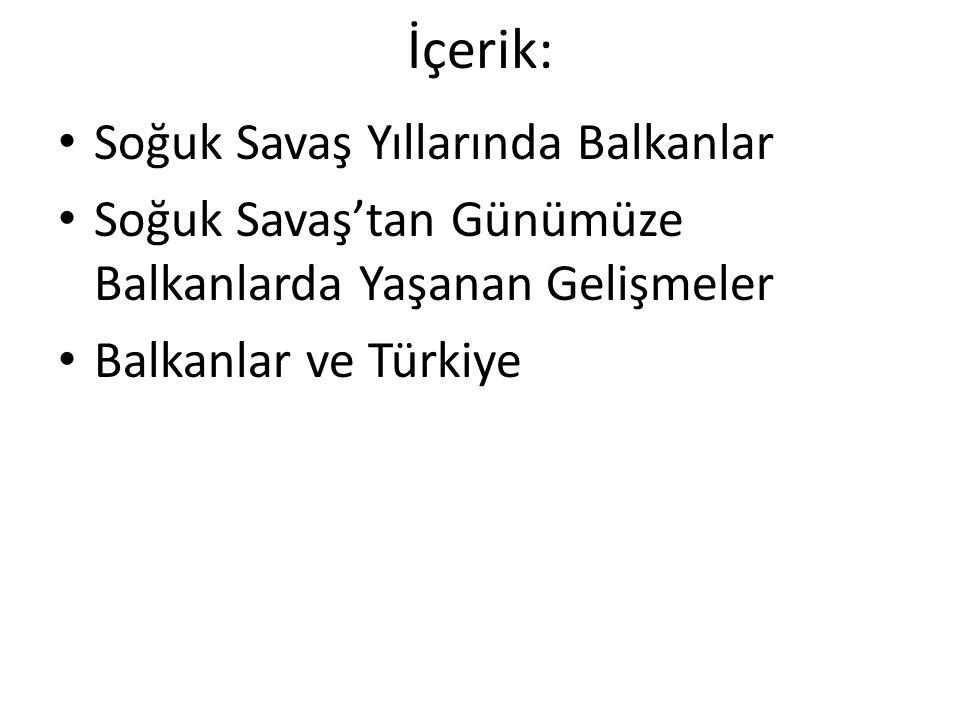 Balkanlar ve Türkiye Türkiye'nin Balkan Sorunlarına Yaklaşımı Balkanlar'daki gelişmelerde söz sahibi olmak ve bölgedeki Türklerin koruyucusu olarak kabul edilmek Tarihsel Osmanlı mirası algısı: Balkanlardaki Türk ve Müslüman nüfusla ilgilenme zorunluluğu.