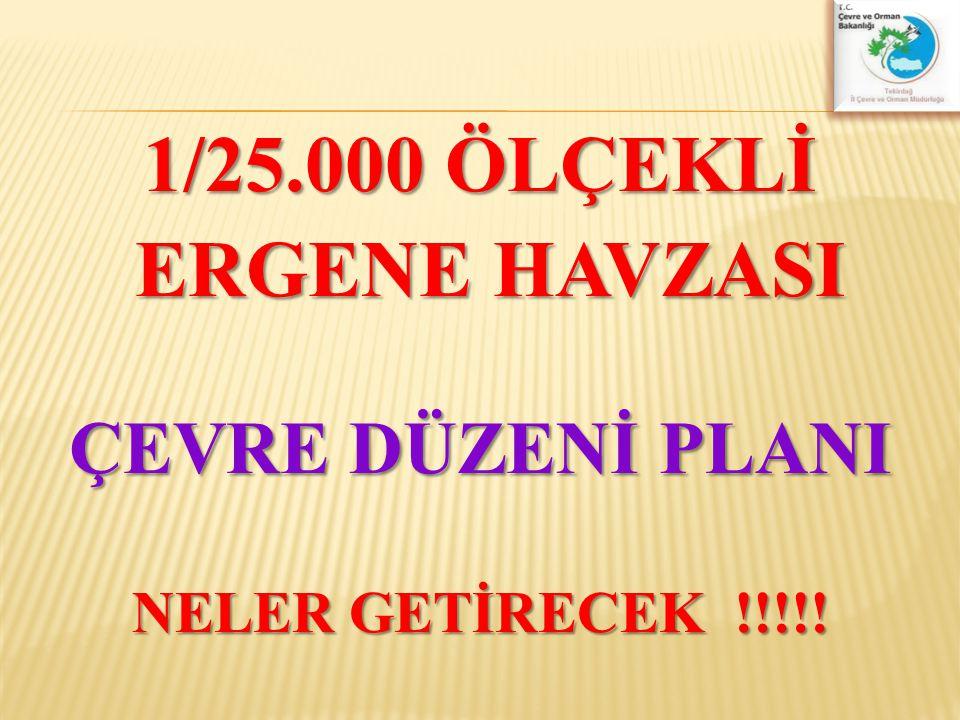 1/25.000 ÖLÇEKLİ ERGENE HAVZASI ERGENE HAVZASI ÇEVRE DÜZENİ PLANI NELER GETİRECEK !!!!!