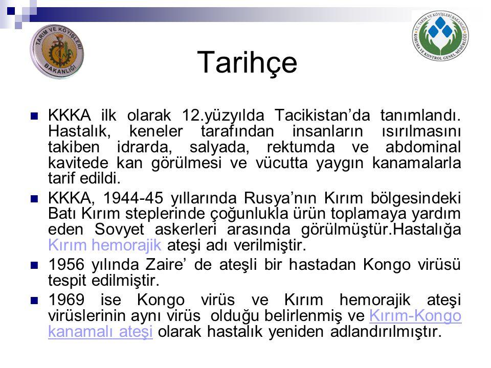 Tarihçe KKKA ilk olarak 12.yüzyılda Tacikistan'da tanımlandı. Hastalık, keneler tarafından insanların ısırılmasını takiben idrarda, salyada, rektumda