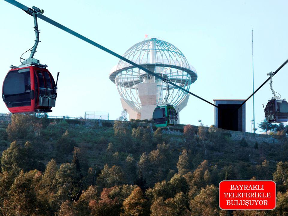 Bayraklı nın sırtlarında muhteşem İzmir manzarasında kurulu Dünya Barış Anıtı'na ulaşımın teleferik hattıyla da gerçekleşmesi için özel proje hayata geçirilecek.