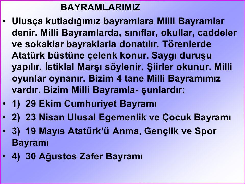 ATATÜRK Atatürk, bin sekiz yüz seksen bir (1881) yılında Selanik'te doğdu. Annesinin adı Zübeyde Hanım'dır. Babasının adı Ali Rıza Bey'dir. Kız kardeş