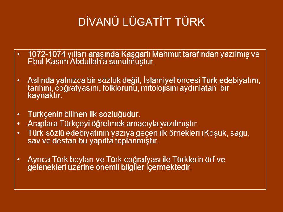 KUTADGU BİLİG 11. yüzyılda (1069-1070) Yusuf Has Hacip tarafından yazılan Kutadgu Bilig, o zaman Doğu Karahanlı devletinin hakanı olan Tabgaç Buğra Ha