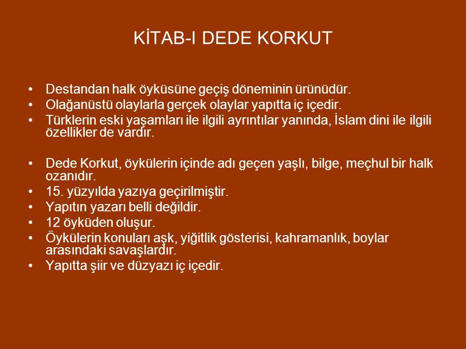 """DİVAN-I HİKMET 12. yüzyılda Ahmet Yesevi tarafından yazılmıştır. """"Hikmet"""", Ahmet Yesevi'nin şiirlerine verdiği isimdir. Şiirler çok sade bir halk dili"""