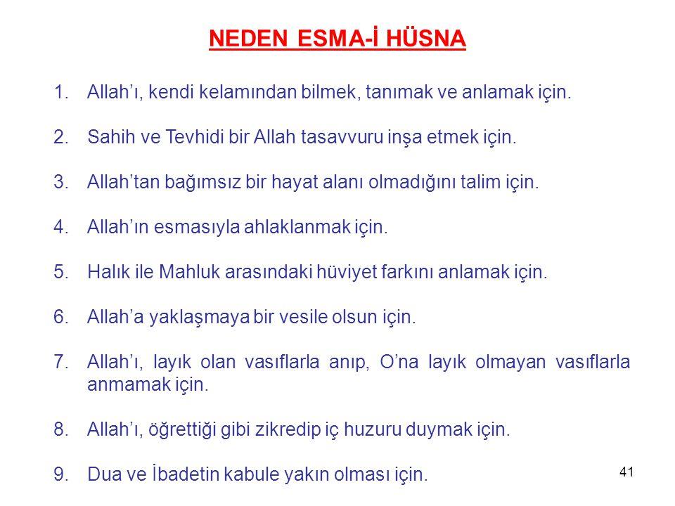 1.Allah'ı, kendi kelamından bilmek, tanımak ve anlamak için. 2.Sahih ve Tevhidi bir Allah tasavvuru inşa etmek için. 3.Allah'tan bağımsız bir hayat al
