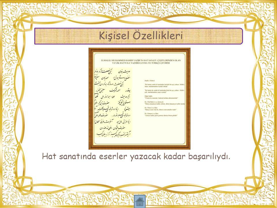 Muhammed Hamdi Yazır'ın hayatı ve kişiliği hakkında bilgileri içeren Elmalı Kaymakamlığı desteği ile kitaplar bastırıldı.