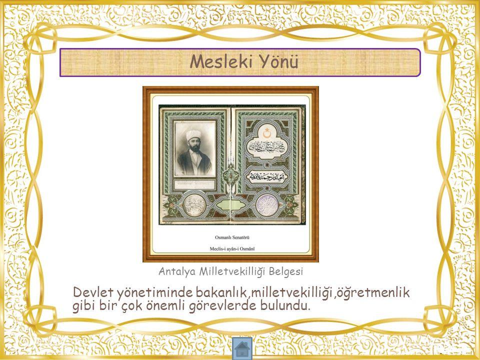 Meclis-i Mebusan takdim töreninde kendisi için söylenen İlmiye sınıfının nasiye-i paki,medar-ı iftiharıdır. sözü ile herkesin Muhammed Hamdi Yazır'ın başarılarıyla gurur duyduğu övgüsü yapılmıştır.