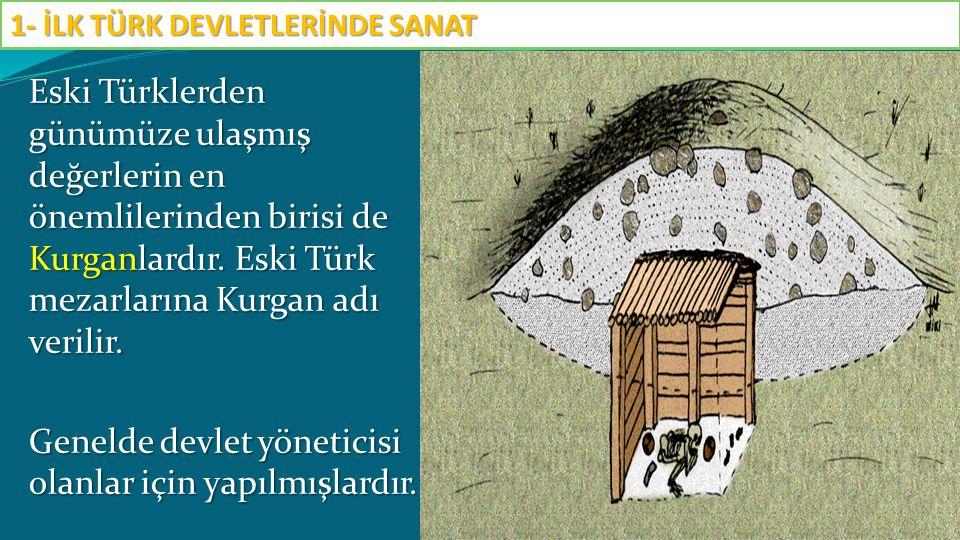 Eski Türklerden günümüze ulaşmış değerlerin en önemlilerinden birisi de Kurganlardır. Eski Türk mezarlarına Kurgan adı verilir. Genelde devlet yönetic