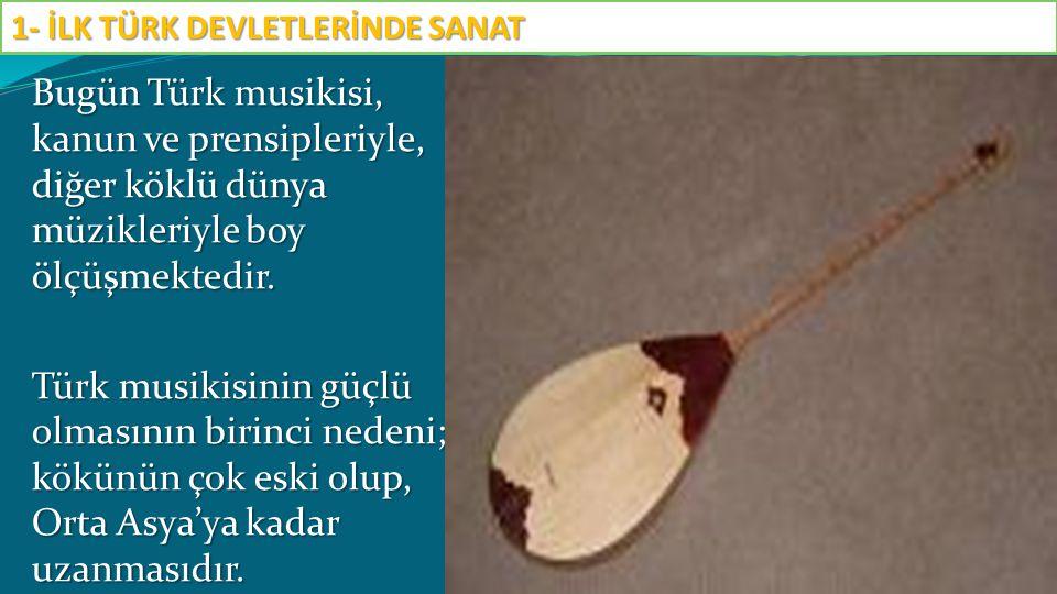 Bugün Türk musikisi, kanun ve prensipleriyle, diğer köklü dünya müzikleriyle boy ölçüşmektedir. Türk musikisinin güçlü olmasının birinci nedeni; kökün