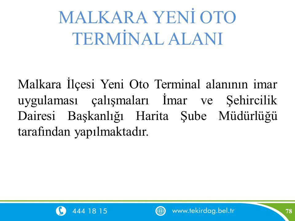 MALKARA YENİ OTO TERMİNAL ALANI Malkara İlçesi Yeni Oto Terminal alanının imar uygulaması çalışmaları İmar ve Şehircilik Dairesi Başkanlığı Harita Şub