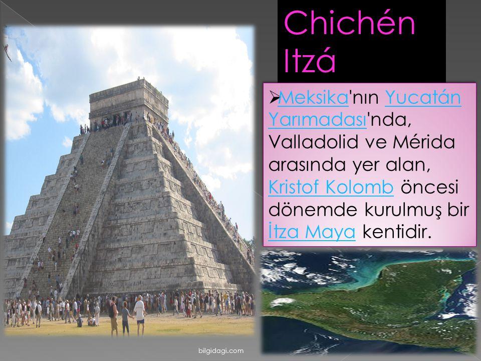 Chichén Itzá  Meksika'nın Yucatán Yarımadası'nda, Valladolid ve Mérida arasında yer alan, Kristof Kolomb öncesi dönemde kurulmuş bir İtza Maya kentid