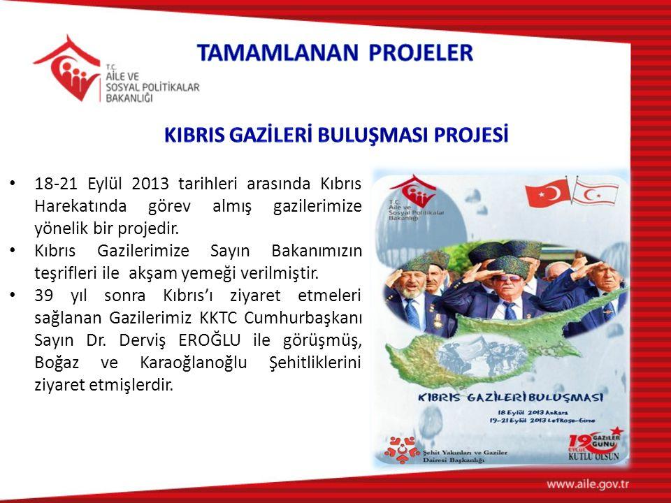 18-21 Eylül 2013 tarihleri arasında Kıbrıs Harekatında görev almış gazilerimize yönelik bir projedir.