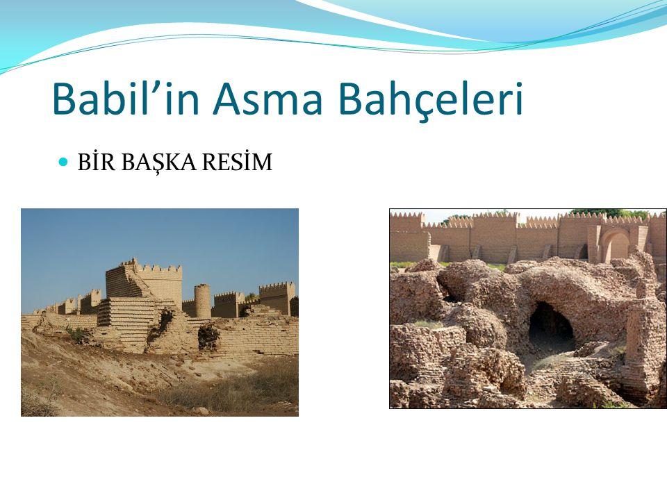 Babil'in Asma Bahçeleri BİR BAŞKA RESİM