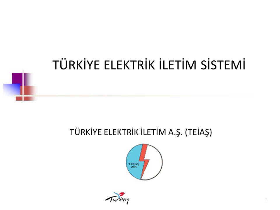 13 Türkiye-UCTE Enterkonneksiyon Projesi Fizibilite çalışmaları tamamlanmış olup;Türkiye İletim Sistemindeki Frekans performansının iyileştirilmesi için yapılan çalışmaların 2008 yılı sonunda tamamlanması hedeflenmektedir.