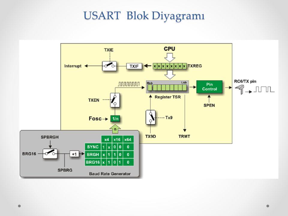 USART Blok Diyagramı