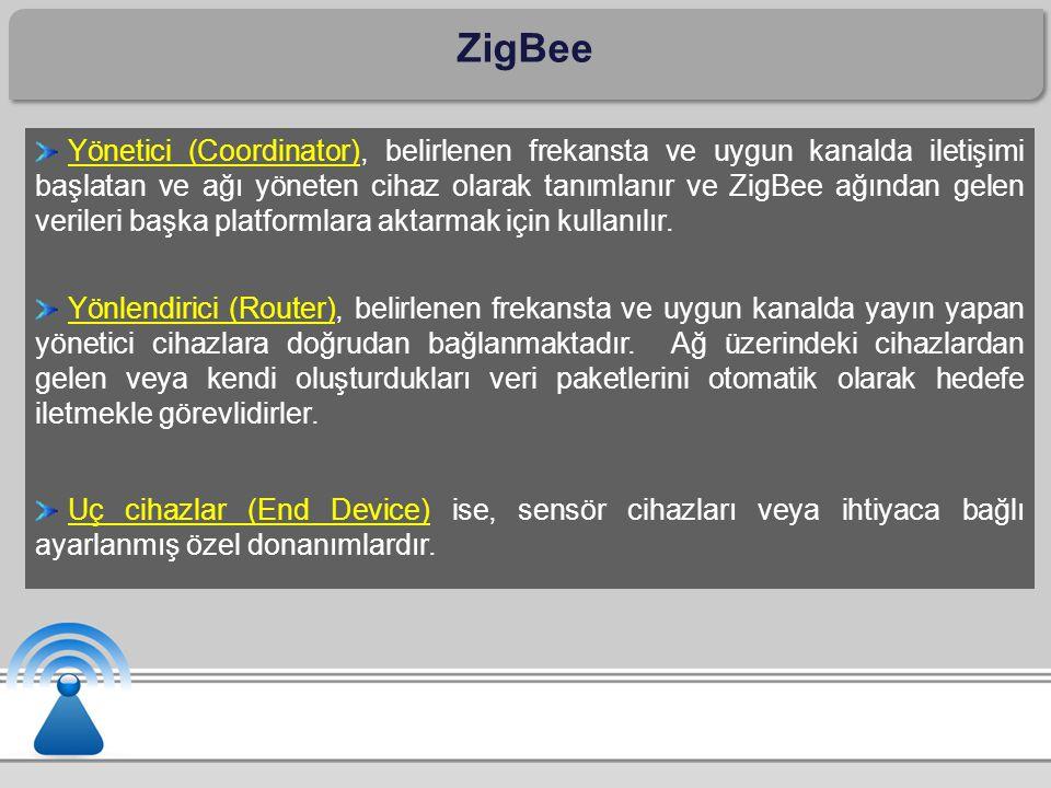 ZigBee Yönetici (Coordinator), belirlenen frekansta ve uygun kanalda iletişimi başlatan ve ağı yöneten cihaz olarak tanımlanır ve ZigBee ağından gelen verileri başka platformlara aktarmak için kullanılır.