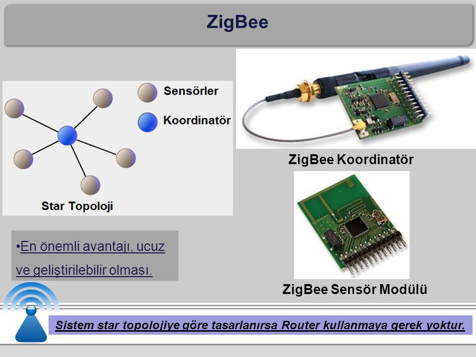ZigBee Sistem star topolojiye göre tasarlanırsa Router kullanmaya gerek yoktur.