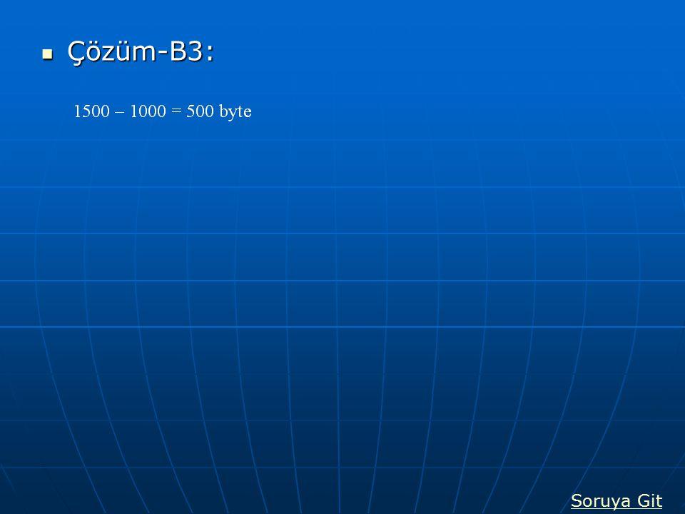 Çözüm-B3: Çözüm-B3: Soruya Git