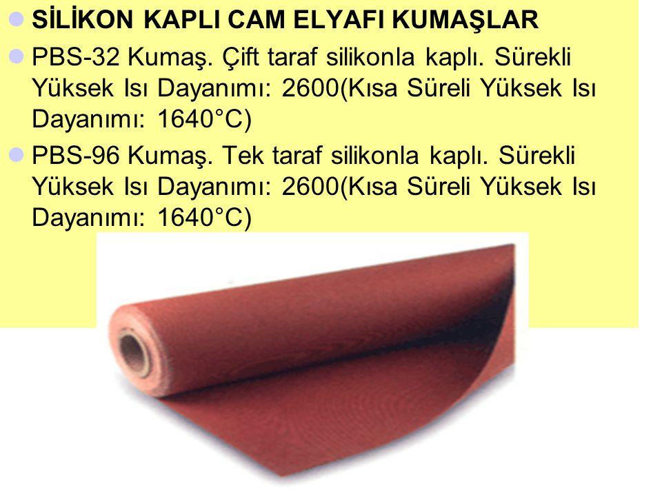 KARBON KEÇELER 1100°C de 60 saniye süreyle test edilmiştir.