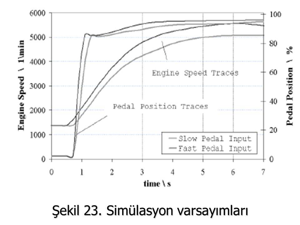 Şekil 23. Simülasyon varsayımları