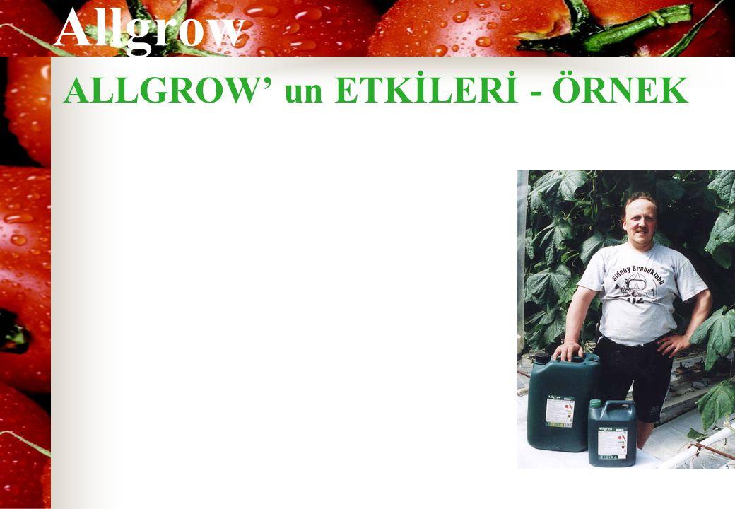 Allgrow ALLGROW' un ETKİLERİ - ÖRNEK