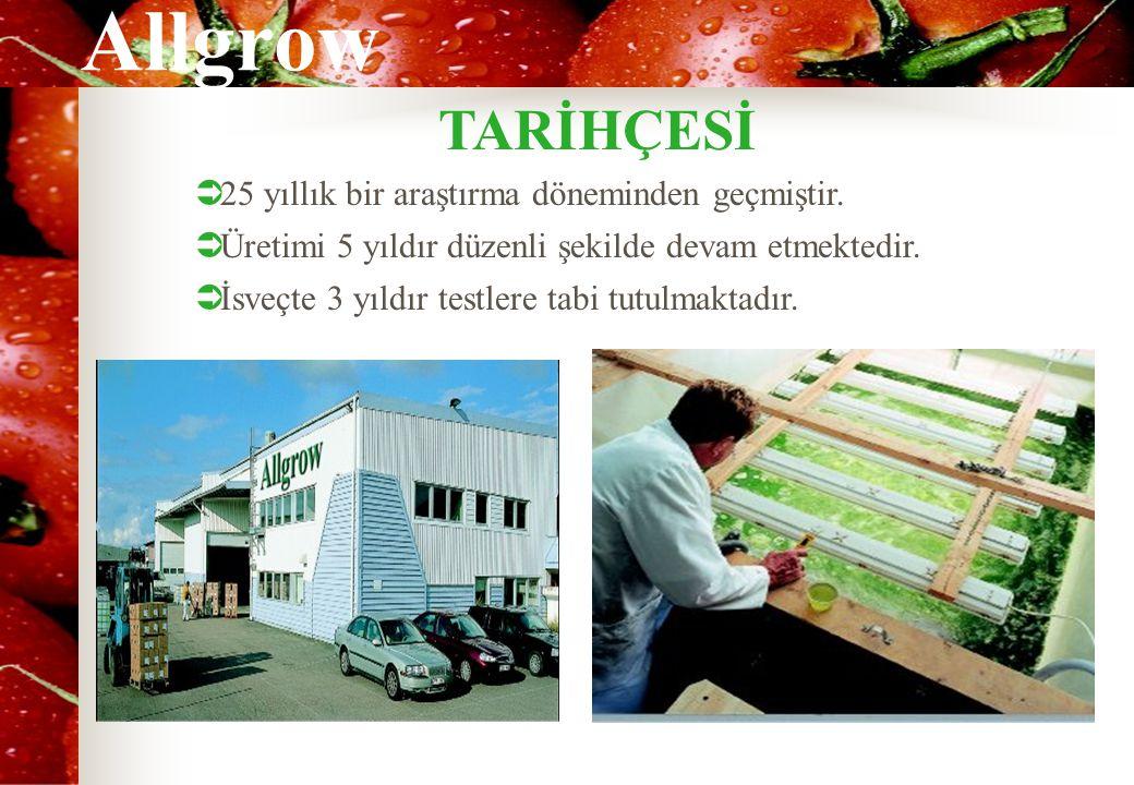 Allgrow  16.000 çeşit yeşil algden oluşmuştur.